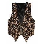 Victorian Vagabond Steampunk Brocade Gothic Men's Vest 7