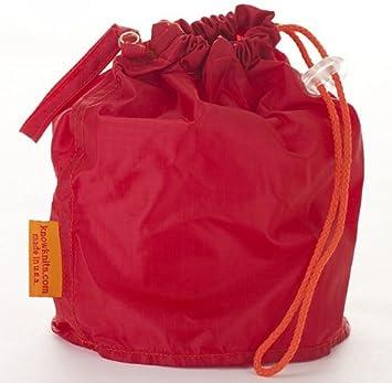 Rojo Mediano goknit estuche proyecto bolsa de W/Loop ...