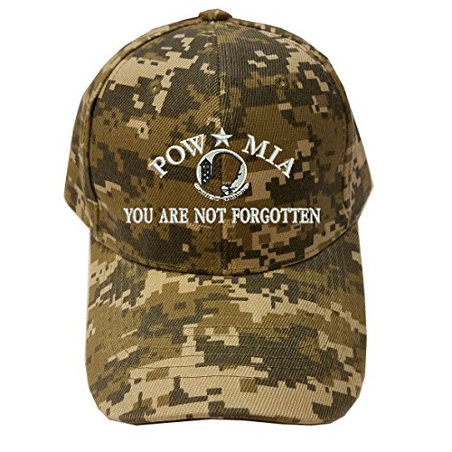 (Military POW MIA Digital Camo Baseball Cap Hat)