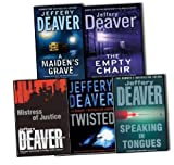 img - for Jeffery Deaver 5 Books Collection Pack Set The Empty Chair, Speaking In Tongues, Twisted, A Maiden''s Grave, Mistress of Justice book / textbook / text book