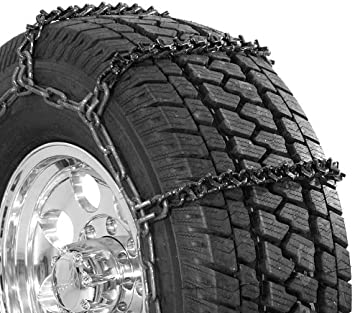 Set of 2 Security Chain Company QG3829 Quik Grip Wide Base V-Bar Type RD Light Truck Tire Traction Chain