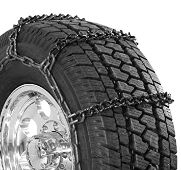 Security Chain Company QG3827 Quik Grip Wide Base V-Bar Type RD Light Truck Tire Traction Chain - Set of 2 SCC