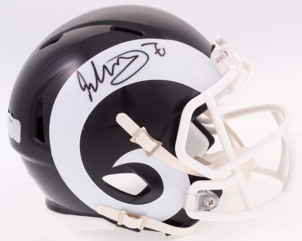 Todd Gurley Los Angeles Rams Signed Autograph Speed Mini Helmet Radtke Sports Certified