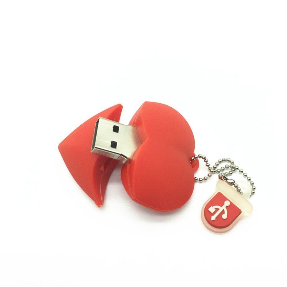 RTYUVN Corazón Rojo USB Flash Pen Drive Driver Box Genuino 32 GB Memoria Flash Stick Pendrive U Disco Regalo de Boda