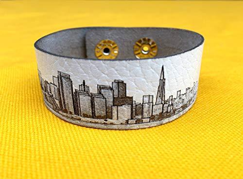 San Francisco skyline leather bracelet