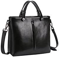 Heshe Women's Leather Handbags Shoulder Bags Tote Bag Cross Body Purses for Ladies