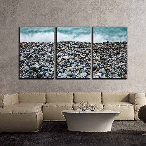 Pebbles on Beach x3 Panels