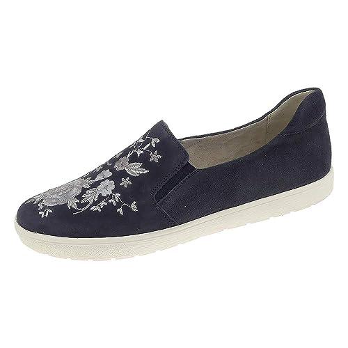 sports shoes new design the cheapest CAPRICE Damen Slipper Blau Leder 9242153-0857: Amazon.de ...