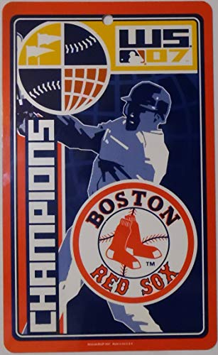 - BOSTON RED SOX 2007 WORLD SERIES CHAMPS Logo Plastic ROOM SIGN