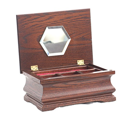 Amazon.com: American Chest Little Lady Jewelry Box With Lift Out Tray And  Mirror: Home U0026 Kitchen