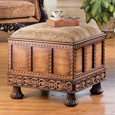 Design Toscano Medieval Strong Box Ottoman