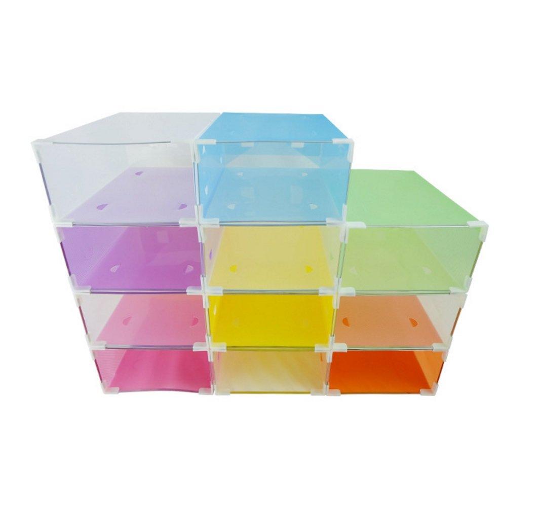 Amazon.com: interbusiness plastic foldable shoe storage diy ...