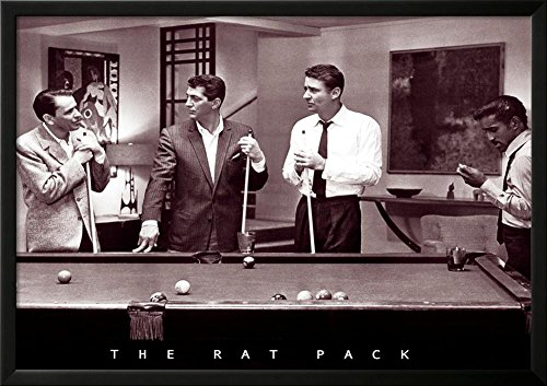 The Rat Pack Lamina Framed Poster 35 x 25in
