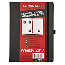 Action Day Planner 2017, Jan-Dec Calendar - Daily Weekly Yearly Organizer - Goal Journal - Designed To Get Things Done ( 8x11 / Thread Bound )