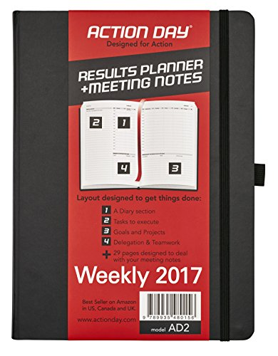 Action Planner Weekly Appointment Book (Action Day 2017 8 x 11-Inch Thread-Bound Action Planner,)