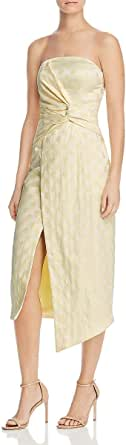 C/MEO COLLECTIVE Women's Strapless MIDI Sheath Dress