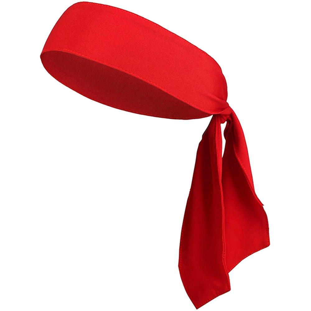 Eizur Reglable Bandeau de sport Sweatband Unisex Sweat Wicking Respirant Stretchy Antidérapant Headband transpiration bande pour Tennis Courir Yoga Fitness Karaté Volley-ball