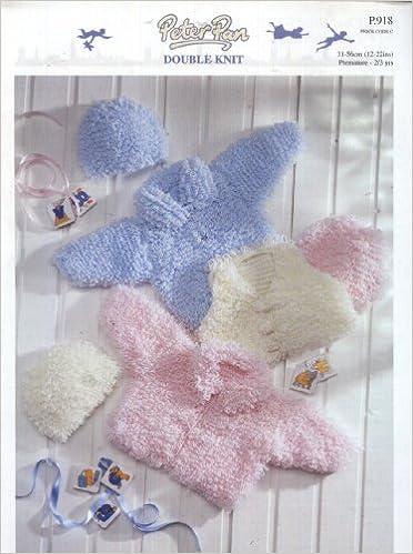 Peter Pan Knitting Pattern 918 Babytoddler Loopy Jacket Gilet