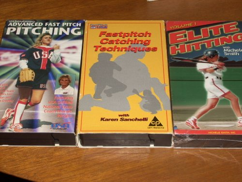 3 Softball Instruction Videos. ADVANCED FAST PITCH PITCHING with National Team membes Lori Harrigan and Martha O'Kelley, Coach Margie Wright. FASTPITCH CATCHING TECHNIQUES with Karen Sanchelli. 1995. ELITE HITTING I (Fastpitch Softball Pitching Dvd)