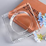 BRLIGHTING Cigar Ashtrays Clear Crystal Ashtray Indoor Outdoor Diameter W5.7inch Big Ash Tray Hotel Office Tabletop Decor