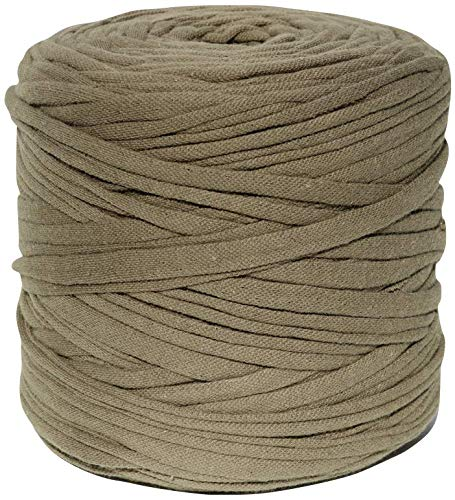T-Shirt Yarn, 130 Yards, 1 1/2 lb, Bulky Yarn, Jersey Yarn, Fabric Yarn, Recycled (Olive)