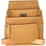 McGuire Nicholas 683CSP 10 Pocket Carpenter Pouch in Tan Suede Leather by McGuire Nicholas