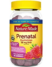 Nature Made Prenatal Vitamin + DHA Softgels with Folic Acid, Iodine and Zinc, 60 Count (Packaging May Vary)