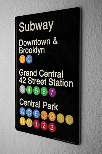 Tin Sign Sign subway outputs Metal Plate (Subway Sign)