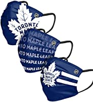 Toronto Maple Leafs NHL Mens Matchday Face Cover - Adult - 3 Pack