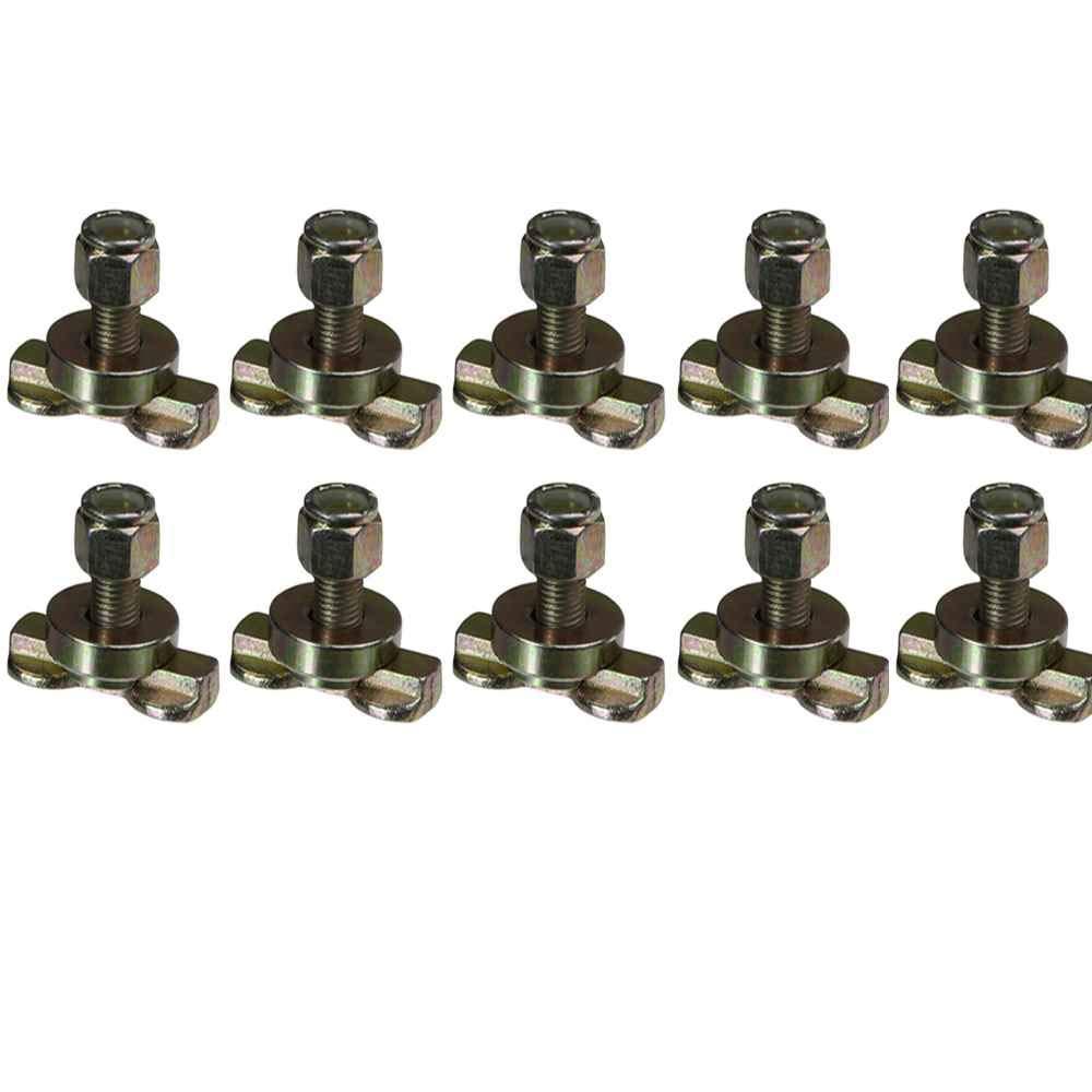 L-Track Double Lug Threaded Stud Fitting 10 Pack