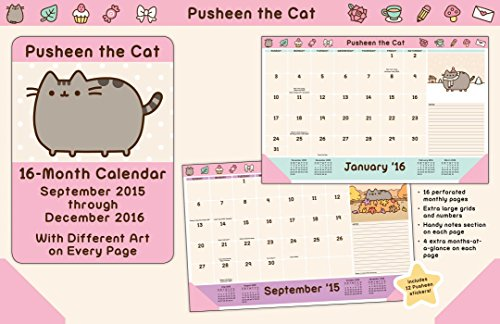 Pusheen the Cat 2015-2016 16-Month Desk Pad Calendar: September 2015 through December 2016