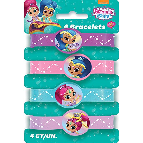 Unique Shimmer and Shine Silicone Wristband Party Favors, 4ct ()