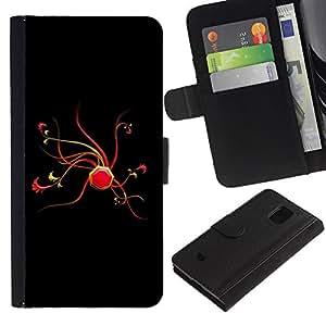 iBinBang / Flip Funda de Cuero Case Cover - Extracto rojo - Samsung Galaxy S5 Mini, SM-G800, NOT S5 REGULAR!