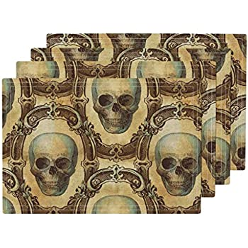 4pc Skull Planter Set