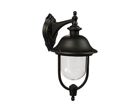 Lampione alluminio nera down applique lampada da esterno 492x257