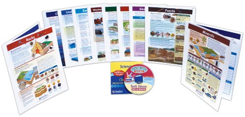 NewPath Learning 10 Piece Mastering Middle School Earth Science Visual Learning Guides Set, Grade 5-9 ()