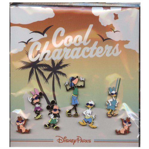 Disney Pin - Cool Characters - 7 Mini-Pin Collection - Pin 89350