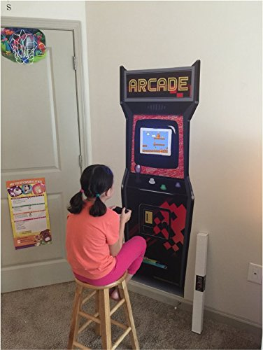 Removable Wall Arcade Game Machine Cabinet Sticker - Video Game Posters