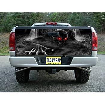 Amazon Com Truck Tailgate Wrap Decal Deer Skull Flag