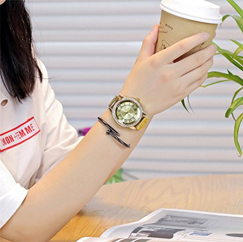 Reloj de Mujer Reloj para Hombres Moda Casual Negocio Deporte Cuarzo Banda de Acero Inoxidable Mármol Correa de Reloj Cosa Análoga Reloj de Pulsera LMMVP ...