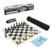 Wholesale Chess Club Starter Combo with Clock & Scorebook - Black