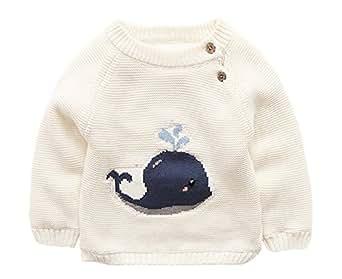 XINNE Unisex Bebé Jerséis De Punto Niñas Niños Hombro Hebilla Suéter Dibujos Animados Ballena Prendas de Punto: Amazon.es: Ropa y accesorios