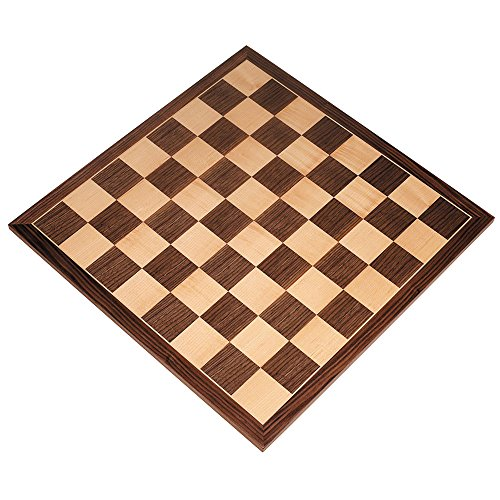 Apollo Tournament Chess Board with Inlaid Walnut and Maple Wood - Board Only - 20 Inch by Best Chess Set