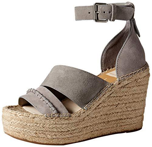 - Dolce Vita Women's SIMI Espadrille Wedge Sandal Smoke Suede 7.5 M US
