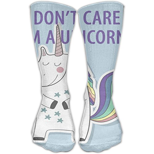 Crazy I Don't Care I'm A Unicorn Knee Socks Running Tube Socks For Girls