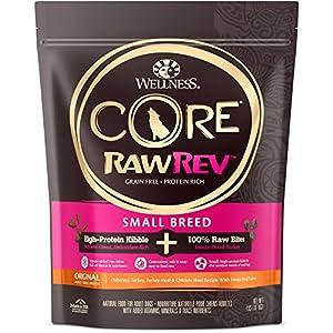 Wellness Natural Pet Food Core Rawrev Grain Free Small Breed Dry Original Turkey Dog Food, 4 lb