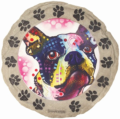 Art Yard Stone (Spoontiques Boston Terrier Stepping Stone)