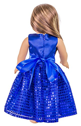 HBB Doll Dress Clothes Fits American Girl Doll, Madame Alexander, Target's and Other 18 Inches Girl Dolls, AD001