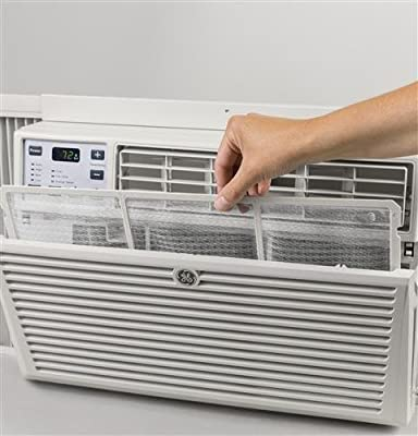 """GE AEM08LX 19"""" Window Air Conditioner with 8000 Cooling BTU, Energy Star Qualified in Light Cool Gray"""