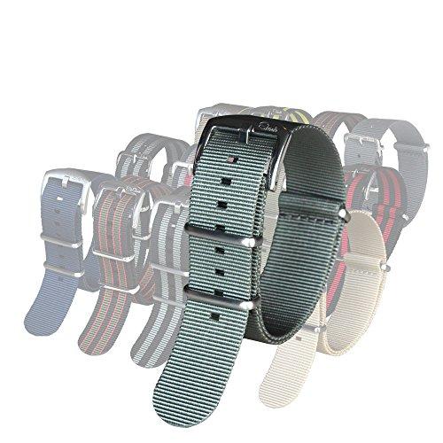 BluShark - The Original Premium Nylon Watch Strap - 18mm Gray